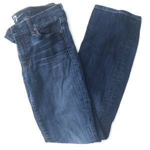 7 for all mankind skinny blue jeans sz 28